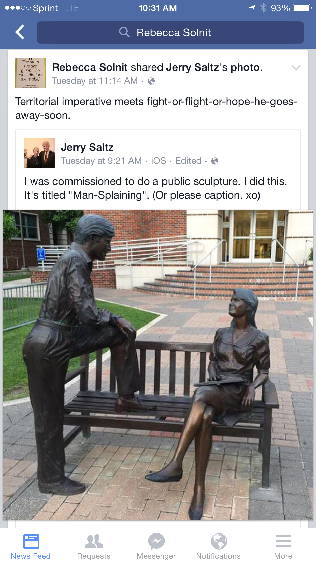 explaining the mansplaining statue picture that took over the  explaining the mansplaining statue picture that took over the internet weird sister